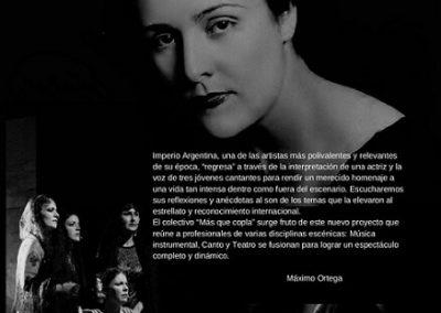 "MÁXIMO ORTEGA – ESPECTÁCULO ""HOMENAJE A IMPERO ARGENTINA"""
