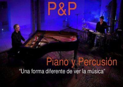P & P – ESPECTÁCULO «PIANO Y PERCUSIÓN»